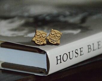 Owl earrings, Coffee cup earrings, Earring studs, Hypollergenic, Earrings, Owl, Coffee