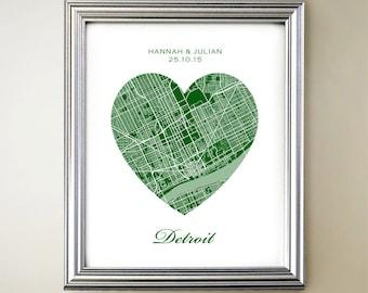 Detroit Heart Map