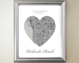 Redondo Beach Heart Map