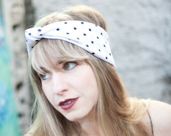 Polka Dot Knotted Headband Choose your Headband