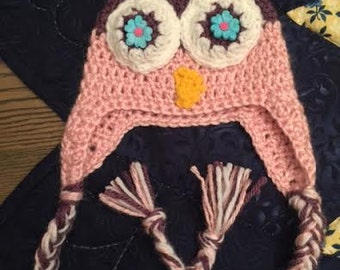 Adorable Owl Hat (3-6 months)