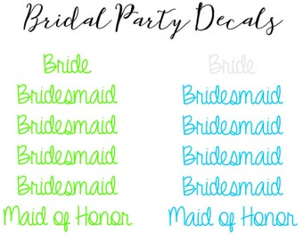 Bridal Party Decals