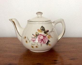 Vintage China Teapot, Pretty 1960s Floral Teapot