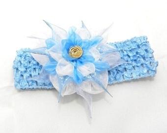 Baby headband whis tsumami kanzashi flower