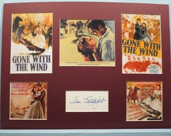 Gone With the Wind starring Vivien Leigh and Clark Gable with Ann Rutherford as Careen and her autograph