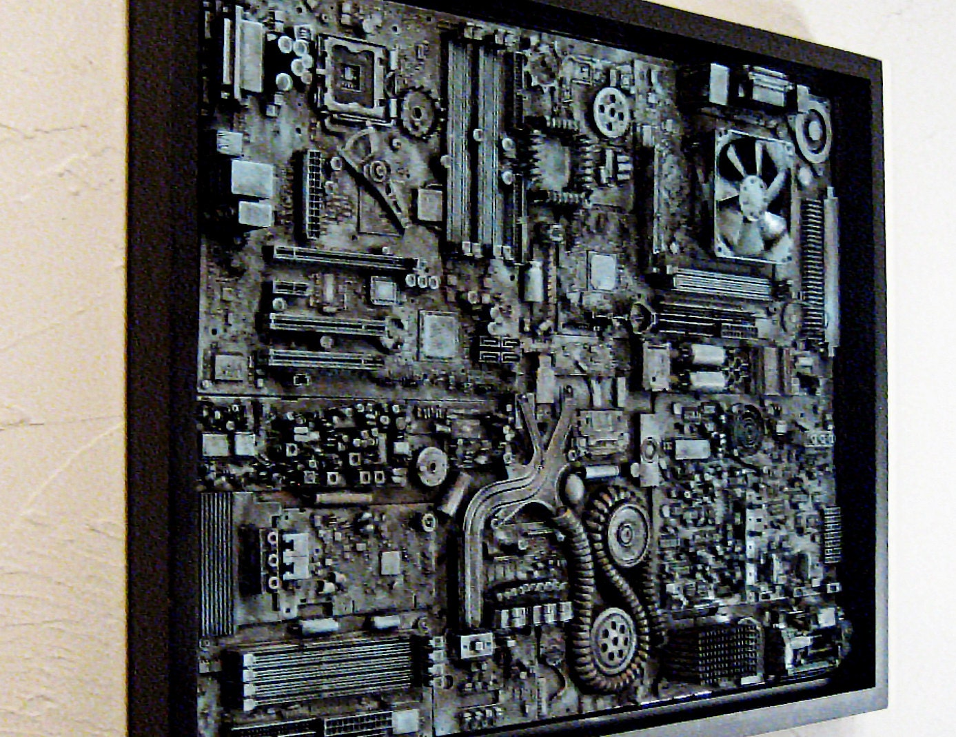 Industrial wall art big wall art 18x24 unique computer for Big wall art