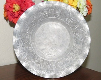 Vintage, Hammered, Forged  EMPC Aluminum Bowl-free shipping USA