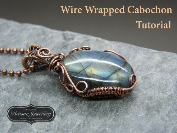Wire wrapped pendant tutorial cabochon setting jewelry kit wire wrapped pendant tutorial cabochon setting jewelry kit wire wrap tutorial instructions pdf instant download jewelry making from aloadofball Choice Image