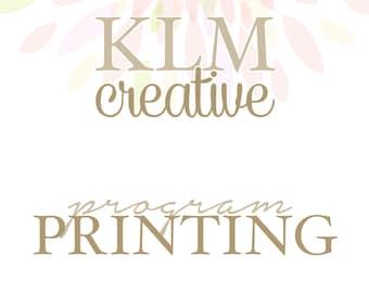 Program Printing Service