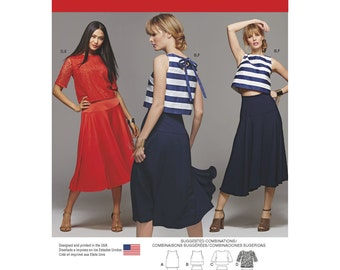 Simplicity Sewing Pattern 8128 Misses' Two Piece Dress