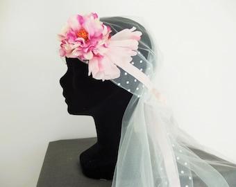 Romantic, boho wedding veil