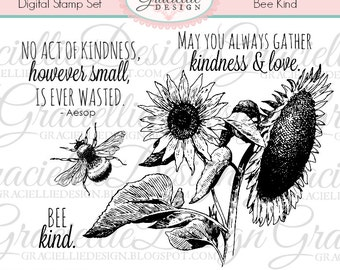 Bee Kind - Digital Stamp Set