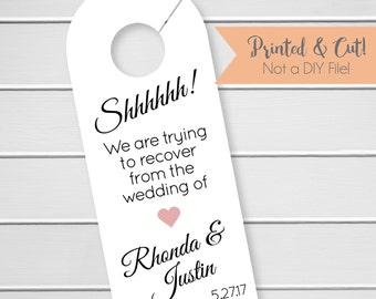 Wedding Door Hanger, Custom Hotel Door Hangers, Destination Wedding Welcome Bag  (DH2)