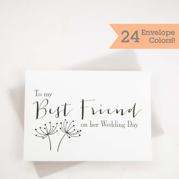 Gift For Best Friend On Her Wedding Day: Wedding Cards To My Best Friend On Her Wedding Day