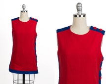 Vintage 1960s dress // 60s colour block mini dress