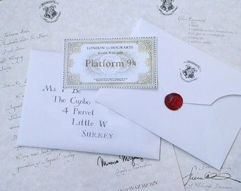 Acceptance Letter for The Academy of Magic (CUSTOMIZABLE!!)