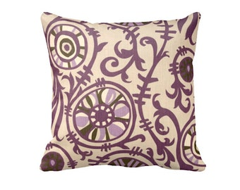7 Sizes Available: Purple Throw Pillow Covers Decorative Pillows Plum Pillow Covers Purple Sofa Pillows Purple Cushion Cover Suzani Pillows