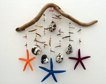 Mobile hanging mobile driftwood ceiling art zen art - Feng shui mobel ...