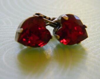 Swarovski heart earrings - SIAM