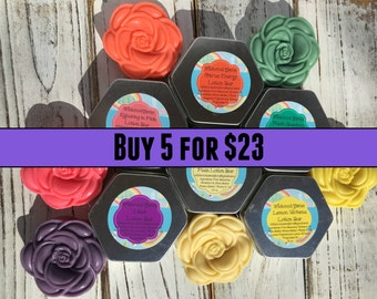 Lotion Bars: Buy any 5 for 23, All Natural Lotion, Long Lasting, Vitamin E, Bundle and Save