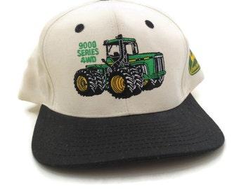 John Deere Tractor 9000 series 4wd vintage snapback hat