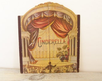 Cinderella Vintage Children's Book Theater Split Book Replica of the Antique Original Merrimack Publishing Hong Kong 1980s