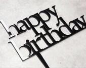 Happy Birthday Topper | B'day Cake Topper | Perspex Birthday Cake Topper | Birthday Topper | Acrylic Cake Topper | Perspex Cake Topper