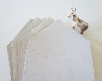 Llama Fibre Letter Paper.  Hand-made, Recycled Paper with Llama Fibre