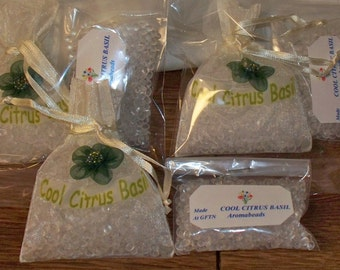 Aromabead Sachets - Made in Vermont - Cool Citrus Basil