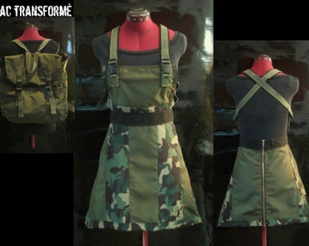 Dress Overall Makes with a Canadian Military Bag