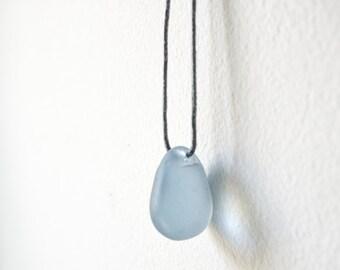 Blue sea-glass pendant