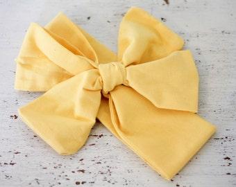 Headband;Baby headband;Headband;Rosie Wrap-headwrap; yellow fabric head wrap; newborn headband; baby headband; toddler hea