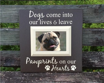 Pet memorial frame - Dog memorial gift - Pet loss gift - Pet remembrance - Dog memorial - Pet picture frame - Dog sympathy frame - Memory