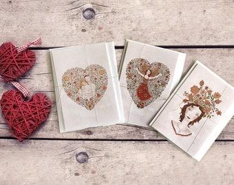 Love cards set - Complete set of 3 Prints