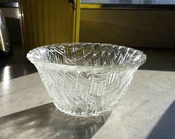 Basket Weave Glass Dish
