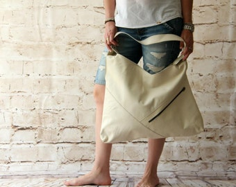 Slouchy leather bag handmade leather bag, Asymmetric shopper bag, soft leather bag, big leather bag, women leather bag, genuine real leather