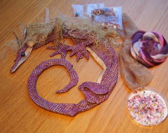 Circle Dragon Kit - Amethyst and Gold