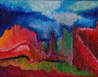 Mini Painting - Western Landscape
