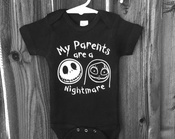 My Parents Are a Nightmare! The Nightmare Before Christmas Jack Skellington inspired onepiece bodysuit!!
