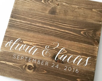 Wood guest book, rustic guestbook, guest book alternative, guestbook
