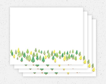 Tree Blank Note Cards - Set of 4