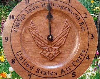 Personalized Air Force Veterans Wall Clocks retirement gift Air Force Decor Custom Anniversary Clock Unique Retirement gift
