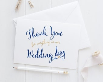Personalized Thank You Card Set, Blank Thank Yous, Wedding Thank You Cards, Personalized Cards, Custom Card