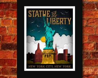 Statue of Liberty Art Print - 11x14
