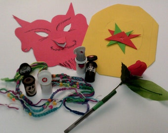 Made to Order Party Favors Awards Prizes! Kids & Adults.  ArtyParty Hats Masks Friendship Bracelets Gift Bags Flower Pens. Unique Reasonable