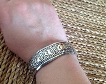 Mexican silver modernist bracelet, Modernist bracelet, Mexican silver, Taxco Jewelry, Southwestern jewelry