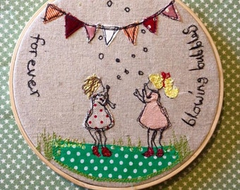 Decorative Embroidered hoop perfect gift x