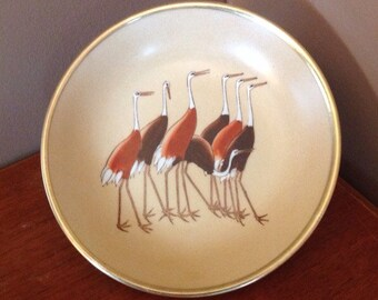 Rosenthal-Netter Brass and Ceramic Waterfowl Dish