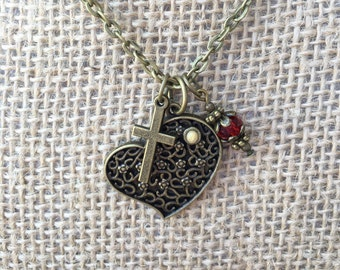 Mustard Seed Necklace, Christian Necklace, Faith Necklace, Mustard Seed Jewelry, Christian Jewelry, Faith Jewelry, Christian Pendant,