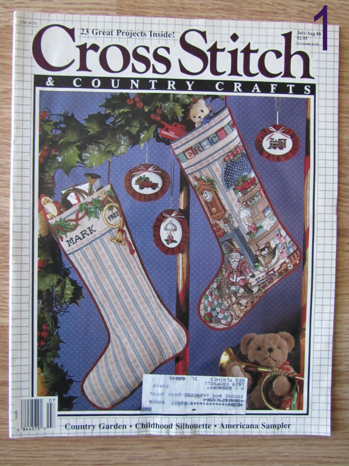 Cross stitch country crafts magazine back issues - Cross Stitch Country Crafts Vintage Magazine Issue July August 1988 Cross Stitch Needlework Magazine Issue August 1997 Cross Stitch